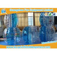 First class blue TPU football inflatable bubble ball / knock ball for outdoor events