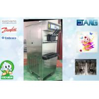 Wholesale 3 Phase High Output Soft Serve Frozen Ice Cream Machine , 50 Liters / Hour 3 Flavors from china suppliers