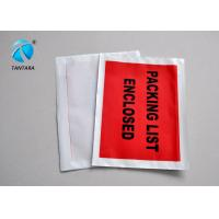 Logistic Shipping packing slip envelopes with custom papers enclosed