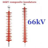 66kv Substation Composite Suspension Insulator Long Rod With One Corona Ring