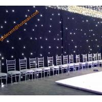 Fireproof Stage Wedding  Party Event Decoration Like Chauvet Sparklite  LED Curtain Backdrop