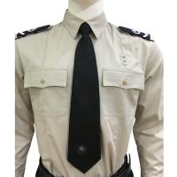 Quality Long Sleeve Custom Security Shirts For Men , 65% Polyester 35% Cotton Materials for sale
