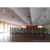 Quality Transparent Glass Wall Aluminum Profile Wedding Event Tent , White Roof Lining Decoration for sale