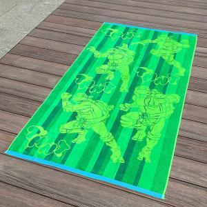 Full Color Printed Jacquard Beach Towel Luxurious Feel With Ninja Turtle Patterns