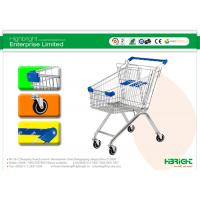 Wholesale 60L to 270L Supermarket European style Shopping Trolleys wheels A Series HBE-A-80L from china suppliers