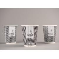 Quality Biodegradable Triple Wall Cups For Hot Drinking / Coffee , Eco Friendly for sale