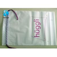 Customized LDPE / HDPE Plastic Drawstring Bags , wear rope shopping bag