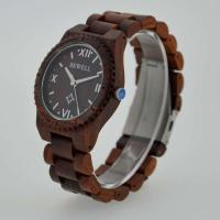 Quality Eco Friendly Bewell Wooden Wrist Watch Waterproof With Customised Logo for sale