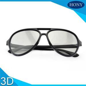 Buy cheap Durable 3D  Passive Linear Polarized Glsses Matt Black Frame For Cinema from wholesalers