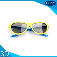 Buy cheap Adult Passive Cinema 3D Glasses Linear Polarized Lens With Blue / Yellow Color from wholesalers