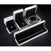 White Plastic Jewellery Box Size Customized For Necklace / Earring SGS Approved