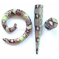 Wholesale Acrylic Snake Skin Spiral Plug Body Piercings Jewelry For Party from china suppliers