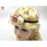 Kids Hair Accessories Elastic Fabric Headband With Rose Flowers