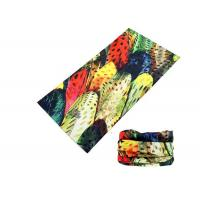 Quality Polyester Soft Fadeless UV Buff Headwear Seamless Breathable With Feather Logo for sale