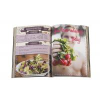Quality Food Book Printing , Custom Cookbook Printing Case Bound Book Printing for sale