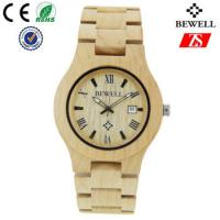 Quality Hign End Men Wooden Strap Watch Waterproof With Japan Battery , OEM ODM Service for sale