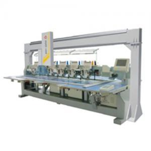 Six head laser embroidery bridge system