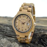 Quality Natural Eco Friendly Classic Men Watches , Mens Waterproof Watches With Wooden Strap for sale