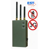 Wholesale CDMA / GSM Portable Cell Phone Jammer Blocker EST-808HC With 3 Antenna from china suppliers