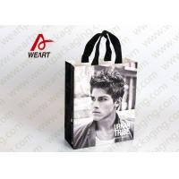 Quality Glued Special Handle Printed Paper Carrier Bags , Custom Recycled Shopping Bags For Retail Stores for sale