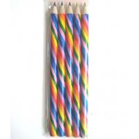 Wholesale 12 rainbow multi color coloring pencils,12 rainbow crayons de couler from china suppliers