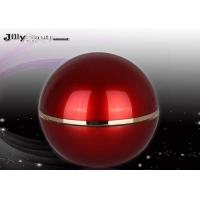 Luxury Red Spherical Plastic Lotion Jars For Makeup Cosmetic Jars With Lids