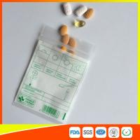 Quality Tablet Drug Packaging Ziplock Pill Bags , Medicine Plastic Bag With Zip Seal for sale