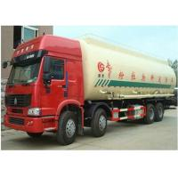 Howo 8x4 Dry Cement Truck , Reliable Cement Transport Truck Axle Optional