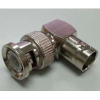 Right Angle BNC Male To BNC Female Connector L-shaped RoHs CE Certification