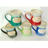 Stoneware Reactive Glaze Mug / Porcelain Coffee Mugs With Embossed Wordings