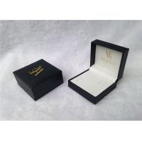 Embossing Travel Watch And Cufflink Case With Square Shape , SGS Standard