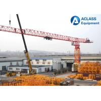 18 ton 74m Jib Length Topless Tower Crane , Self - Raising Flat Top Tower Crane