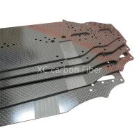 RC Hobby car chassis Carbon fiber sheet  cnc cutting 2.5mm thickness