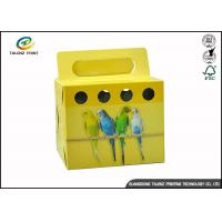 Quality Colorful Printing Cardboard Gift Boxes Foldable Space Saving For Birds for sale
