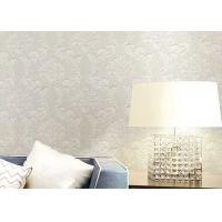 Quality Floral Wet Embossed Non - Woven European Style Wallpaper For Study Room for sale