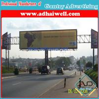 Gantry Spanning Advertising Billboard Sign Construction