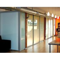 Opaque Milk White Glass Panel Office Partitions , Glass Partition Panels