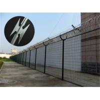 Buy Prison Anti Climb Fencing / Security Steel Fence With Razor Barbed Wire at wholesale prices