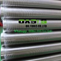 Oasis Factory Supplies Johnson wedge wire screens/water well casing pipe