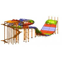 Wholesale Large Water Amusement Park Outdoor Water Slides Platform 59.06 Feet from china suppliers