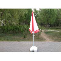 High Grade Custom Printed Beach Umbrellas Red And White For Shops Promotion