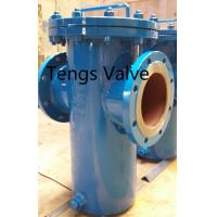 Fabricated carbon steel flanged simplex basket strainer
