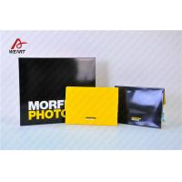 Buy Yellow & Black Color Customized Logo Promotional Paper Bags Glossy Lamination at wholesale prices