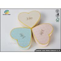 Heart Appearance Cardboard Jewelry Boxes , Cardboard Candy Boxes Eye Catching