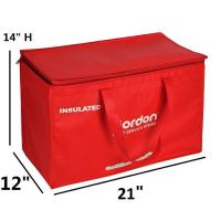 Thermal Insulated Cooler Tote Bags / Outdoor Disposal Lunch Bag For School