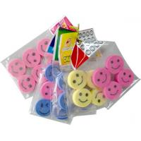 Quality Polybag packed eraser Series in smile face shape for sale