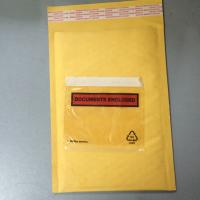 Wholesale Golden / Yellow Padded Envelopes With Documents Enclosed / Attached Pouch from china suppliers