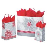 Customized High Quality And Fancy Printed Christmas Paper gift Bag with handles