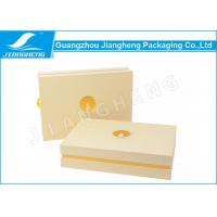 Rectangle Perfume Packaging Boxes , Gold Embossed Special Packaging Paper Box