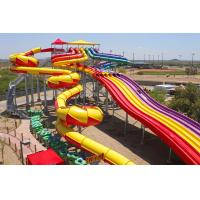Large Yellow Water Playground Equipment Fibergalss 13 Height for Adult